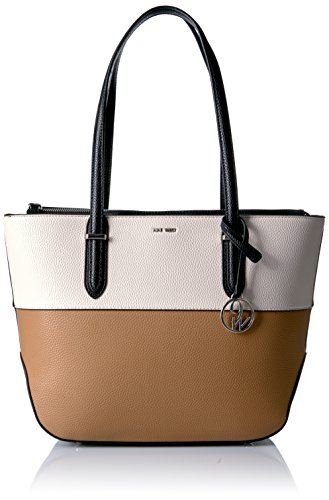 Nine West Reana Tote, Milk/Dark Camel/Black by Nine West