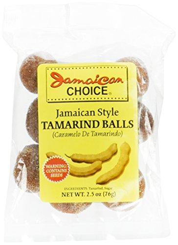 Jamaican Style Tamarind Balls (Caramelo De Tamarindo) 2.5 oz Bags, 3 Pack