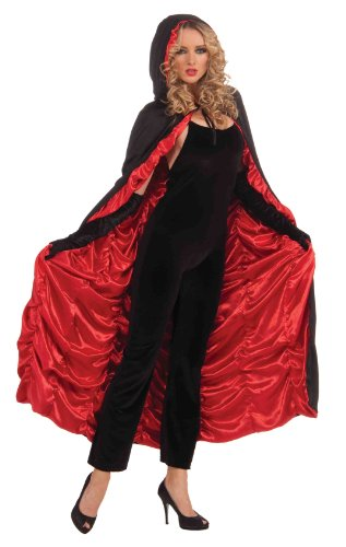 Forum Coffin Cape Hoodie, Black/Red, Standard Costume