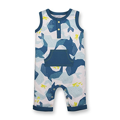 LAMAZE Organic Baby Organic Baby Girl, Boy, Unisex Rompers, Coveralls, Blue Whale, 18M