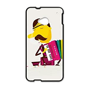 cartoon cute musical man personalized high quality cell phone case for HTC M7 by runtopwellby Maris's Diary