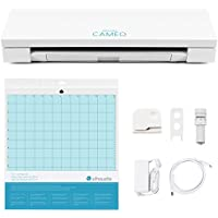 Silhouette Cameo 3 with Bluetooth, Auto Adjusting Cutting BladeS, Vinyl Trimmer, 12x12 Mat, 110v-220v Power Cord