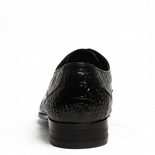 Lyzgf Mannen Mannen Business Casual Mode Krokodil Patroon Wees Leren Schoenen Zwart