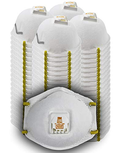 : 3M 8511 Particulate Disposable Respirator, N95, Grinding, Sanding, Sawing, Sweeping, Dust, Smoke, 80/Pack