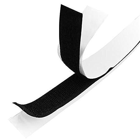 Unbekannt 10 m Larghezza 10 mm Velcro Autoadesivo in Nero o Bianco