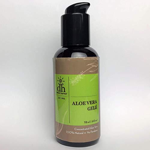 Desert Harvest Aloe Vera Gele (4 oz) 100% Organic Aloe Vera Gel, Anti-inflammatory Pain Reliever, Effective for Burns, sunburns, rashes, Eczema, Psoriasis, Under Make-up moisturizer