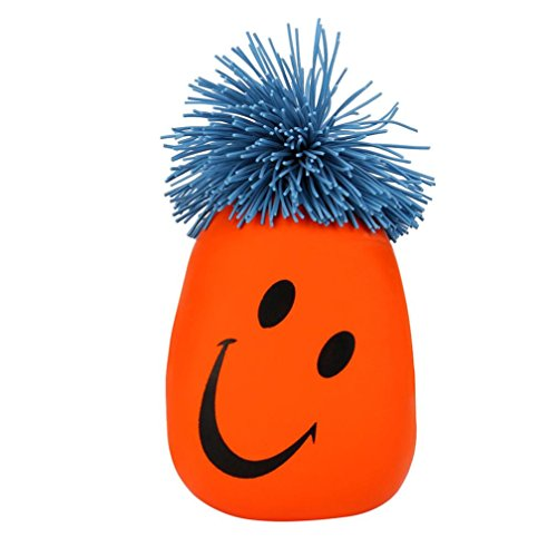 Moody Face - Smile Face ,Binmer® Kids Adult Super Stretchy Moody Face Stress Ball Smile Face Squeeze Toy Time Killing Funny Christmas Birthday Gift (Orange)