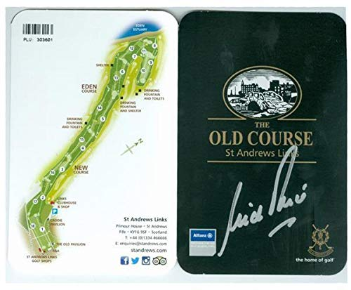Nick Price autographed Scorecard St Andrews Old Course Golf Club - Autographed Golf ()