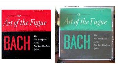 Two LP Set The Fine Art Quartet- Art Of The Fugue, Parts One & Two Complete 1962