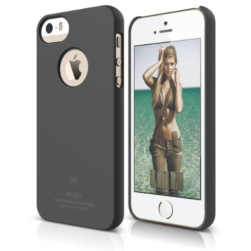 iPhone SE case, elago [Slim Fit][Soft Feel Dark Gray] - [...