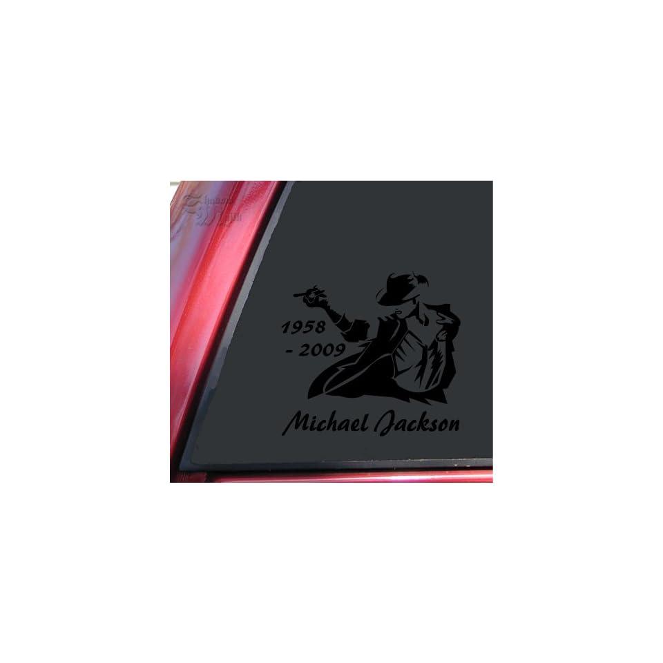 Michael Jackson 1958   2009 Vinyl Decal Sticker   Black