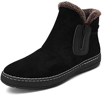ブーツの中のカジュアルで快適な最高の冬ののどの羊毛の靴メンズおしゃれな雪 快適な男性のために設計