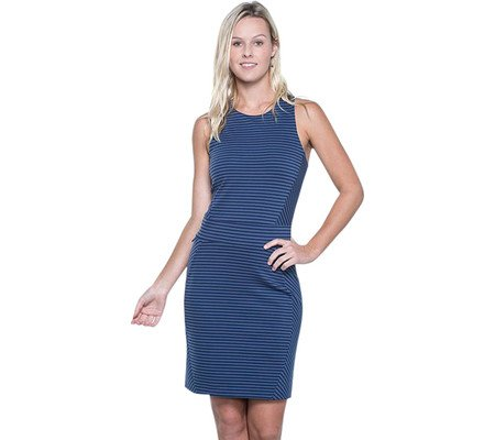 Toad&Co Women's Transita Dress Indigo Stripe Dress by Toad&Co