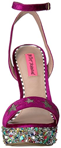 Betsey Johnson Womens Kennè Abito Sandalo Magenta Multi