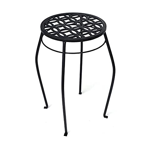Enjoyable Amazon Com Patio Life 21 In Black Indoor Outdoor Round Lamtechconsult Wood Chair Design Ideas Lamtechconsultcom
