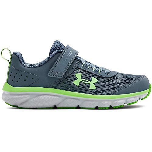 Under Armour Kids' Pre School Assert 8 Alternate Closure Sneaker, Ash Gray (401)/Wire, 2