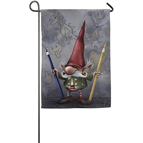 (Personalized Gnomes Season Porch Yard House Garden Flags 12 X 18 Polyester Fiber Banners)