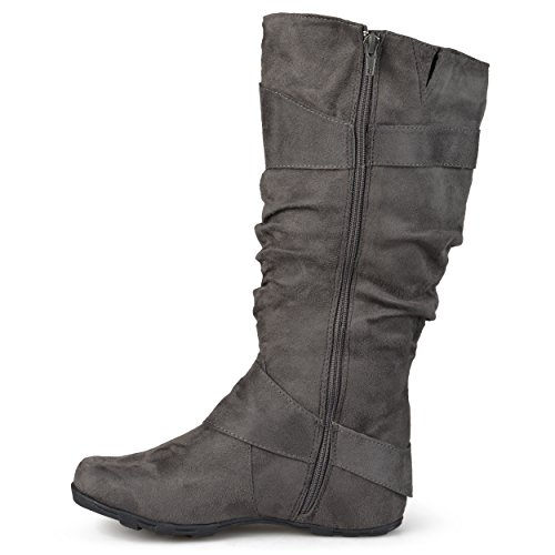 Journee Mid Grey Extra Riding Boots Womens Wide Collection calf Calf Slouch OwPwXrUq