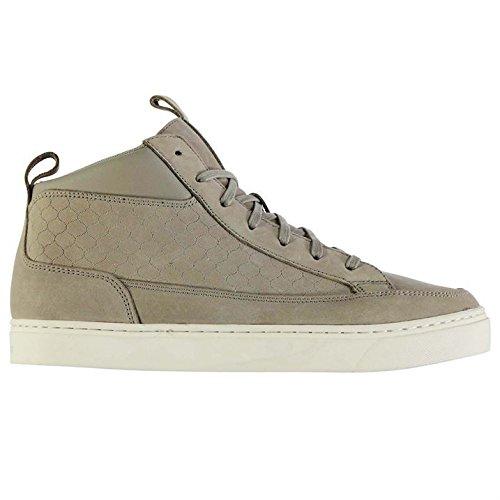 Firetrap Hombre Euphoria Zapatillas Cordones Detallado Cosido Casual Zapatos Grey/Off White