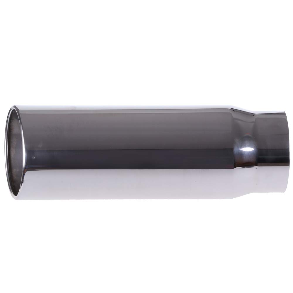 ECCPP Diesel Exhaust Tip 5 Inlet 6 Outlet Exhaust Tips 18 Long Mirror Polished Stainless Steel Exhaust Tailpipe