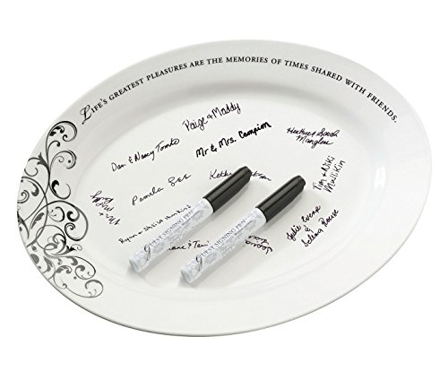 (Lillian Rose Wedding Guest Book Alternative Ceramic Sign Plate)