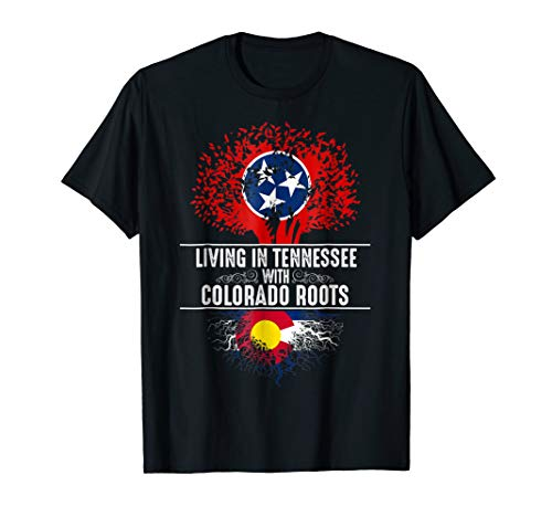- Tennessee Home Colorado Roots State Tree Flag Shirt Gift