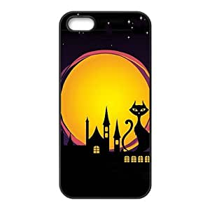 Durable Platic Case Cover for iPhone 5/5S-Cartoon Halloween Pattern Printed Cell Phones Shell