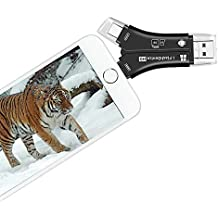 Trail Camera SD Card Viewer for iPhone iPad Mac & Android, SD & Micro SD Memory Card Reader to View Photos and Videos from Any Wildlife Scouting Game Camera on Smartphone for Outdoor Deer Hunting