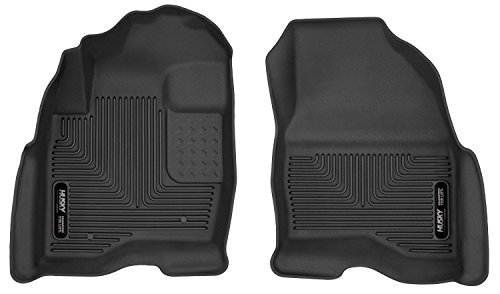 Husky Liners 53331 X-act Contour Series Black Front Floor Liner by Husky (Carpeted Black Front Floor Liner)