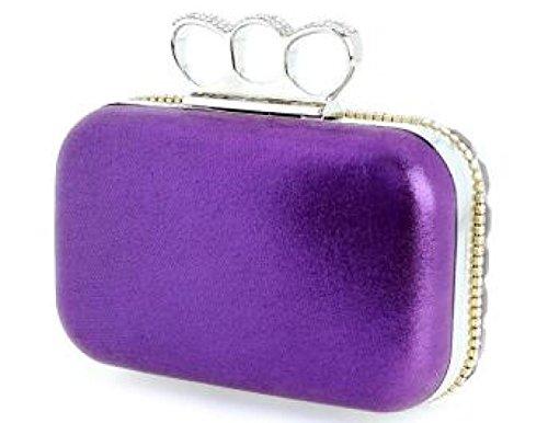 Wenl viola argento Rhinestones The europea I Of moda La Bag Clutch e americana Night FUFHqOrawx