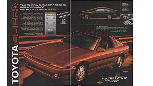 Magazine Print ad: 1986 Toyota Supra,