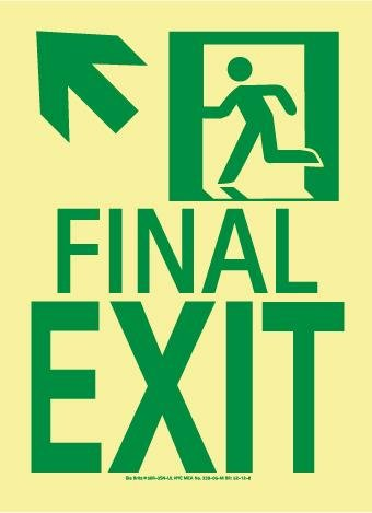 Final Exit Sign - NMC 50R-3SN-UL, Final Exit Sign