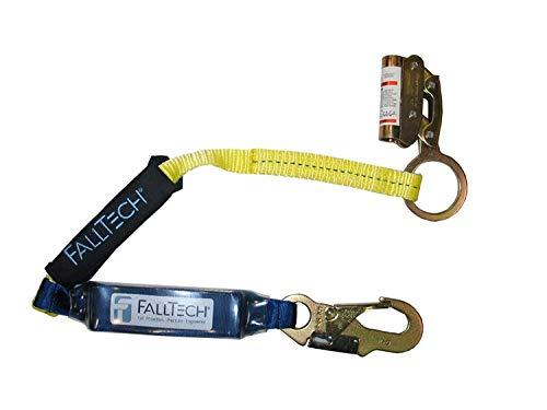 3 Shock Absorbing Lanyard - FallTech 8353LT Manual Grab with SoftPack