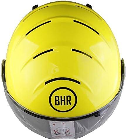 M Black Metallic BHR 63439 Demi-Jet Helmet Model Ski 820