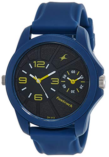 Fastrack Two Timers Analog Black Dial Men's Watch-38042PP03 / 38042PP03