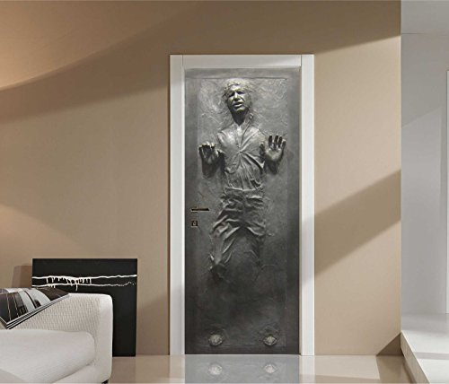 Han Solo in Carbonite Star Wars Laminated Life-Size Repositionable Door or Wall Graphic Decal Sticker by Images and Words Graphics