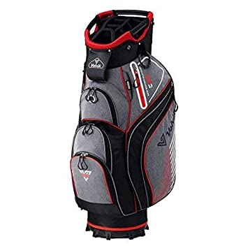 Cart Volvik - Bolsa para Vaqueros de Golf (Gris/Rojo/Blanco ...