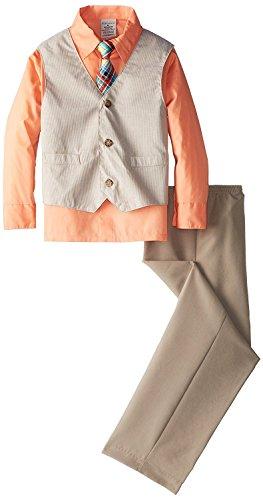 Perry Ellis Boys' Heather Cord Vest Set (6, (Perry Ellis Khaki)