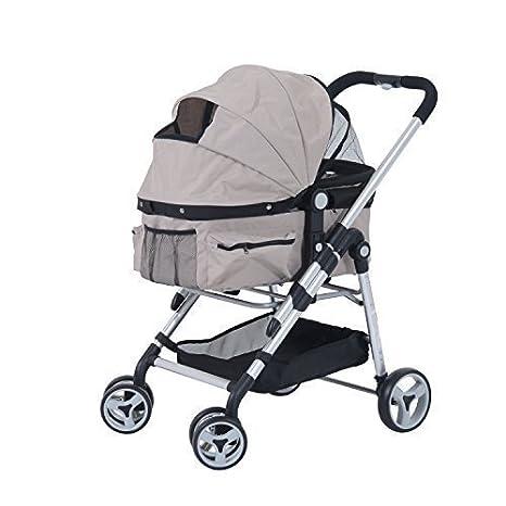 PawHut - Cochecito para perros y mascotas, carrito de paseo, color gris, 104 x 55 cm: Amazon.es: Hogar