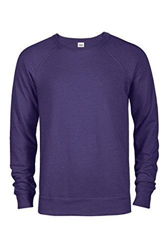 Casual Garb Men's Crew Neck Sweatshirts French Terry Crewneck Sweatshirt For Men Purple Heather Large