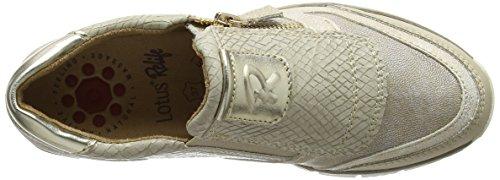 Lotus Marigold - Zapatos, Mujer Beige (Beige Snake Print)
