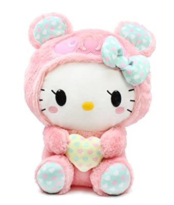 Furyu Hello Kitty Panda Fluffy Heart Big 13 Plush 3838 Pink from Furyu
