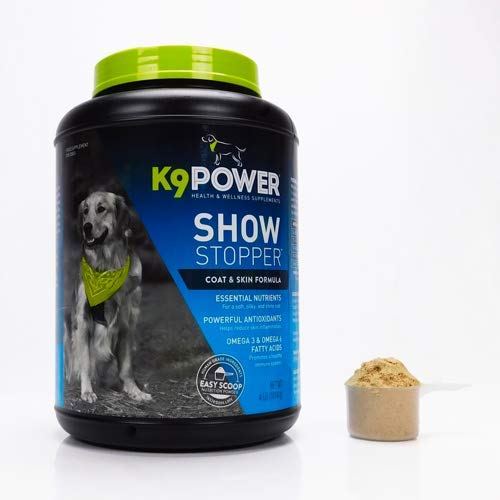 K9 Power Show Stopper - Healthy Dog Coat and Skin Formula to Improve Health and Appearance - 4 Pound