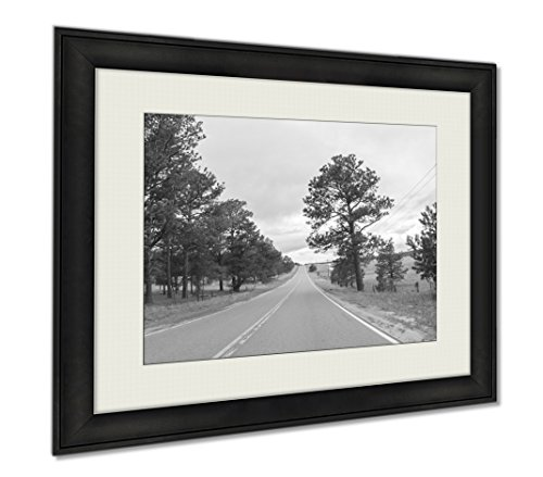 Ashley Framed Prints Countryside, Wall Art Home Decoration, Black/White, 30x35 (frame size), AG6370339 by Ashley Framed Prints