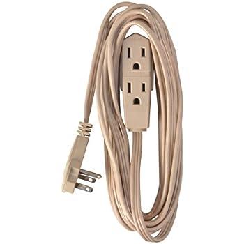 SlimLine 2255 Flat Plug Extension Cord, 3 Wire, 13 Foot, Beige
