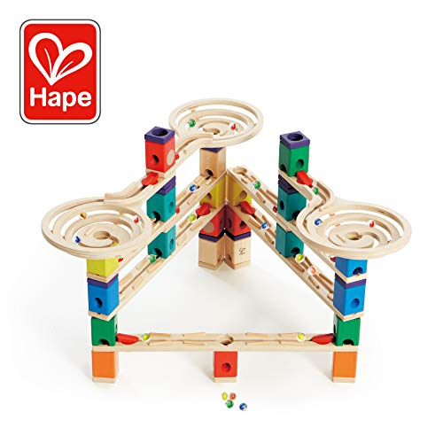 Hape Quadrilla Wooden Marble Run Construction - Vertigo - Quality Time Playing Together Wooden Safe Play - Smart Play for Smart Families ()