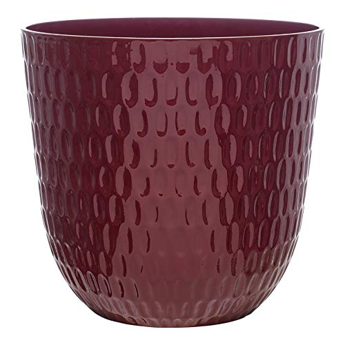 allen + roth 13-in W x 12-in H Apache Red Resin Planter ()