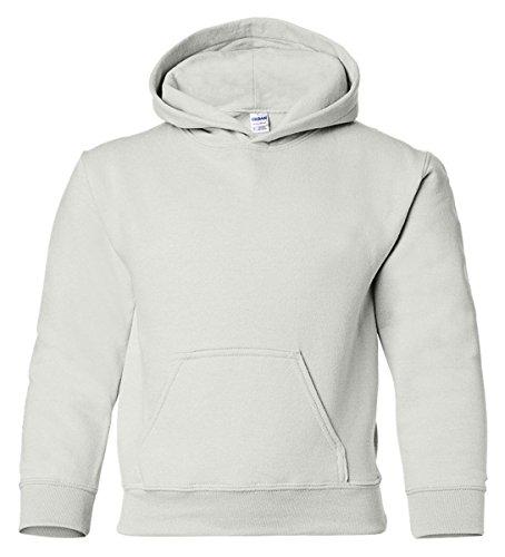 Hooded Pullover Sweat Shirt Heavy Blend 50/50 - White 18500B (Gildan Kids Sweatshirt)
