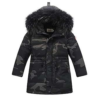 Amazon.com: JJCat Girl's 6-16Y Big Fur Hooded Thick Warm
