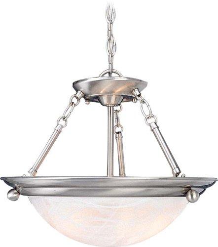 Volume Lighting V6794-33 Lunar 4-Light Pendant or Semi-Flush Ceiling, Brushed Nickel by Volume Lighting